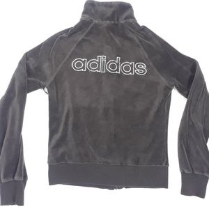 Adidas Full Zip Sweater Women's Sz Small ~ Gray